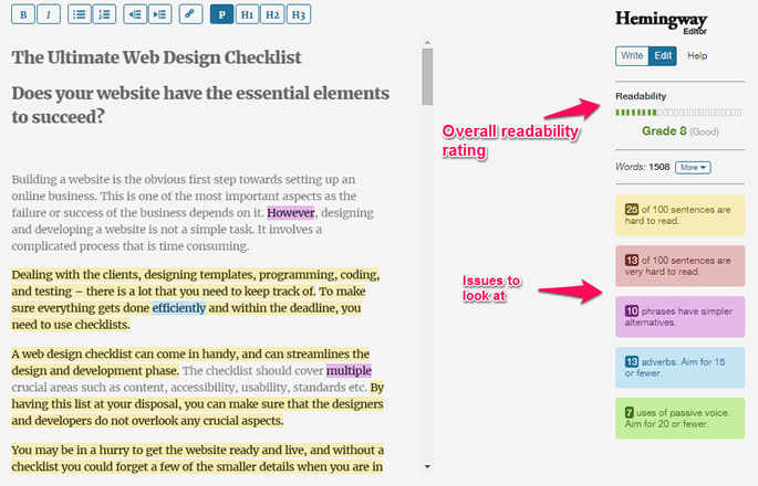 Hemingway helps users improve their writing