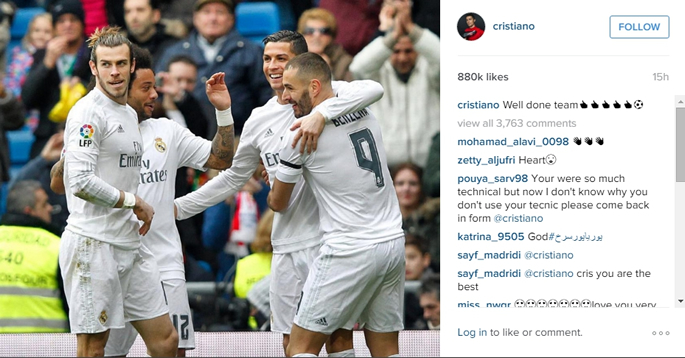 Cristiano Ronaldo - Instagram post