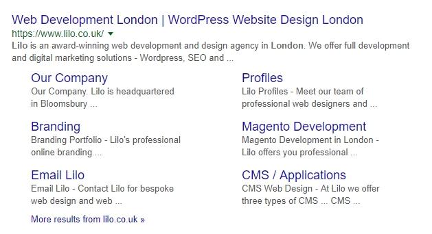 Google Search Results – Lilo Meta