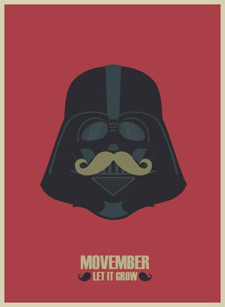 A Movember campaign poster featuring Darth Vader