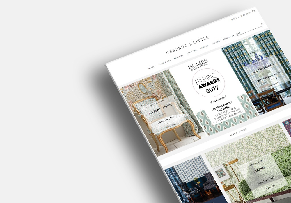 Osborne and Little-Ecommerce website