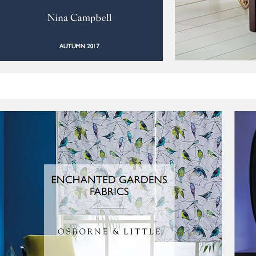Osborne and Little- Enchanted Gardens Fabrics