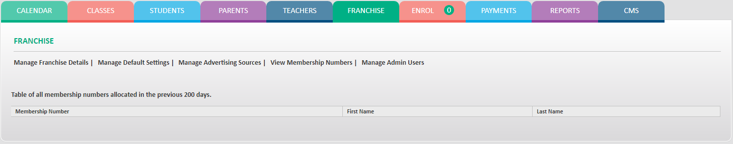 GymbaROO - View Membership Numbers