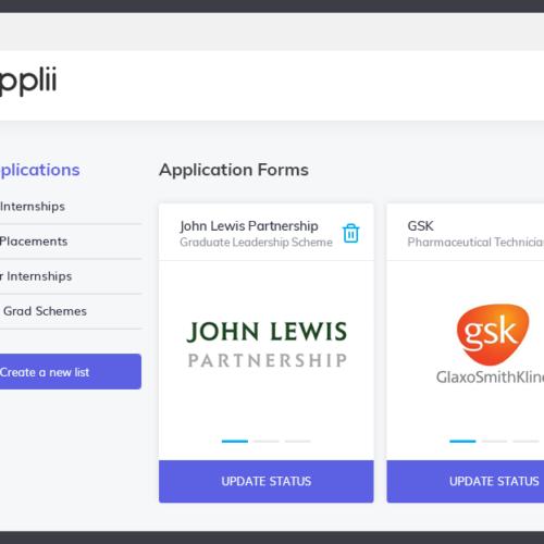 Applii - Adding jobs to favourites