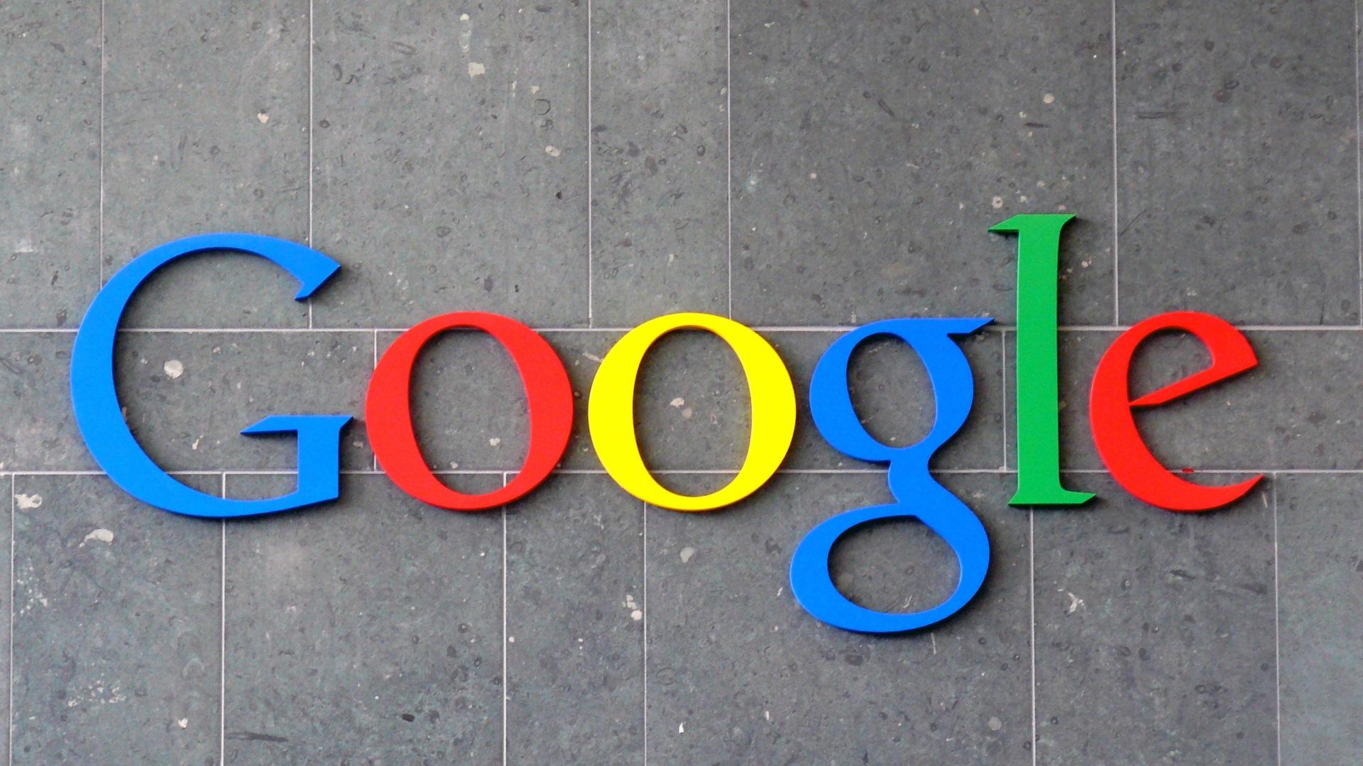Google on wall